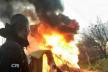 У Києві націоналісти спалили табір циган (Фото)