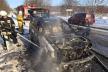 На Сторожинеччині під час руху спалахнула автівка (Фото, відео)