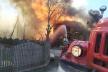 На Буковині згоріла господарська будівля