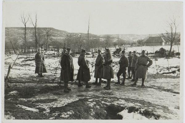 Село Маморниця на фото 1918 року