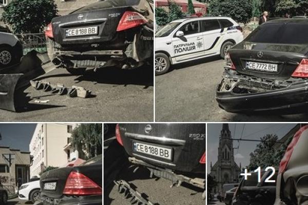 У Чернівцях неадекват на чужому авто розбив ще 9 машин (Відео, Фото)