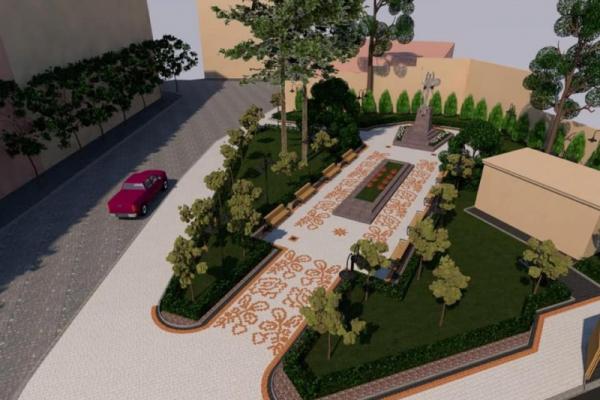 Як виглядатиме сквер біля пам'ятника героям Буковинського куреня (Фото)