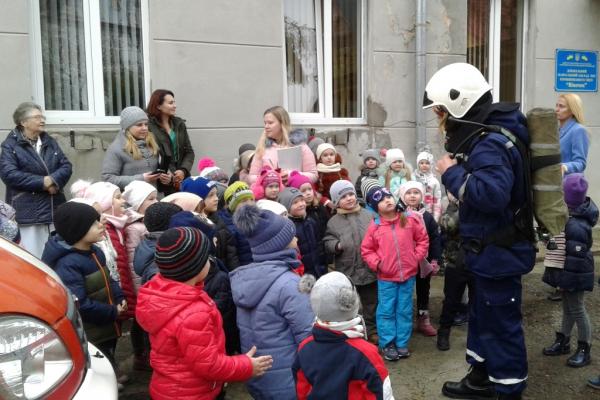 Чернівецькі рятувальники відвідали дитячий садочок (Фото)