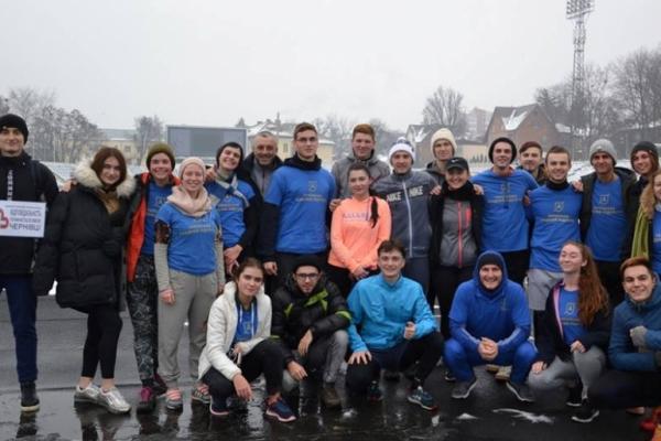 Чернівчани влаштували колективну оздоровчу пробіжку