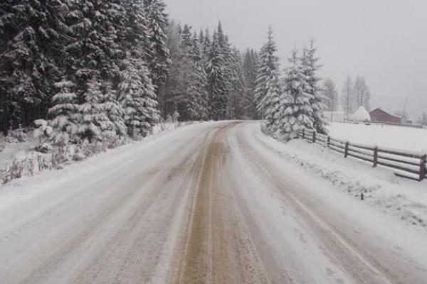 У Путилі на Буковині випало майже 10 сантиметрів снігу (Фото)