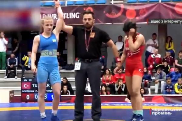 Марія Винник, борчиня з Буковини, стала призеркою Чемпіонату Європи (Відео)