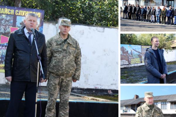 36 призовників з Буковини відправились до лав ЗСУ