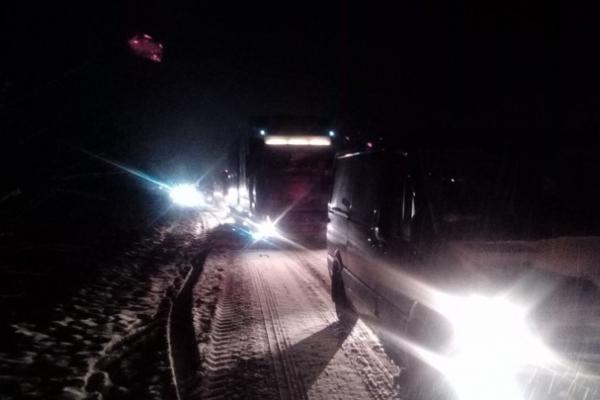 Через снігопад рух транспорту на дорогах Буковини частково обмежено