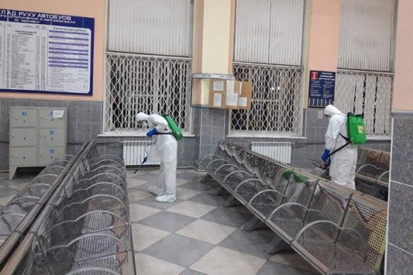 На Буковині продезінфікували автовокзали (фото)