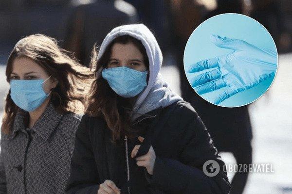 Як правильно носити медичну маску та рукавички?