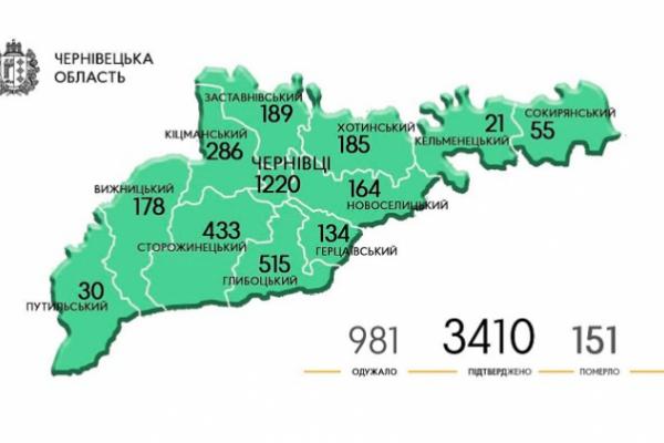 Як поширюється коронавірус у Чернівецькій області?