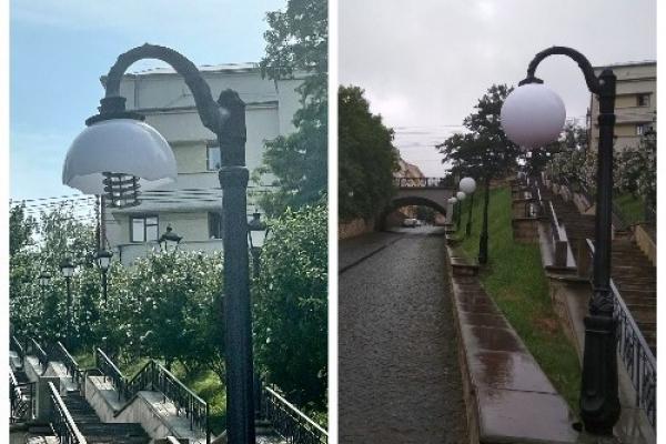 Вандали знову понищили ліхтарі на площі Пресвятої Марії у Чернівцях