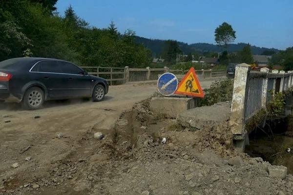 На трасі Стрий-Мамалига (Н-10) триває ремонт трьох мостів