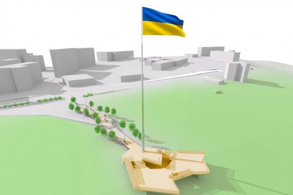 У Чернівцях вивісять прапор України на 50-метровому флагштоці