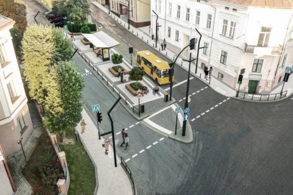 На розі Хмельницького-Університетської у Чернівцях розпочали роботи з облаштування громадського простору