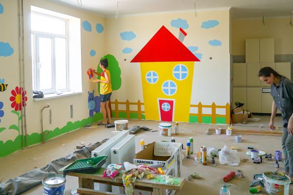 У дитячому садочку в Опришенах завершили будівельні та оздоблювальні роботи