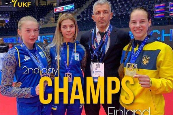 Чернівецька каратистка на чемпіонаті у Фінляндії виборола звання чемпіонки Європи